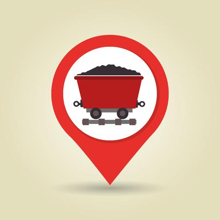 gold mine: mining signal isolated icon design, vector illustration  graphic
