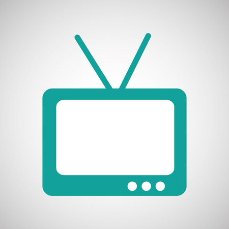 hd: tv home illustration in white background, vector
