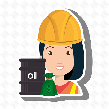 persons with barrel petroleo isolated icon design, vector illustration  graphic