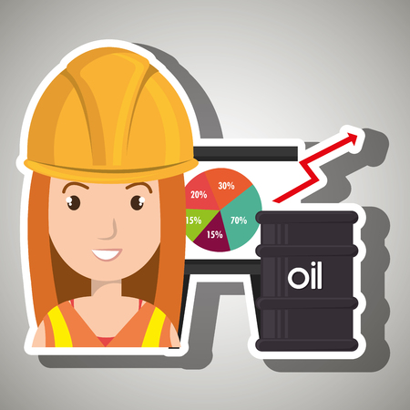woman and industry isolated icon design, vector illustration graphic