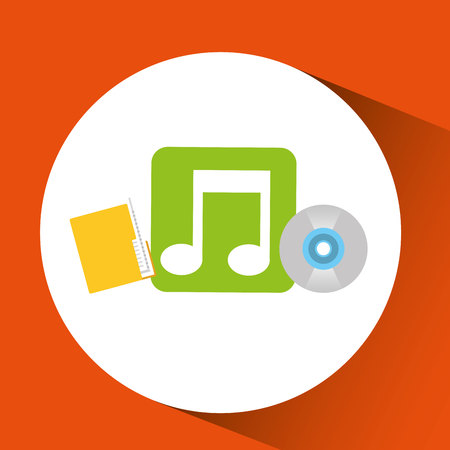 sound box: sound and music in a box icon, vector illustration design