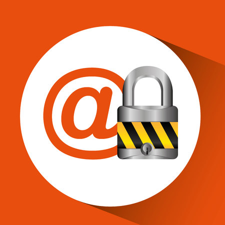 email security: email security technology icon, vector illustration design