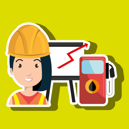 woman with gas isolated icon design, vector illustration  graphic Illustration