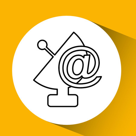 antenna icon design in a white background, vector