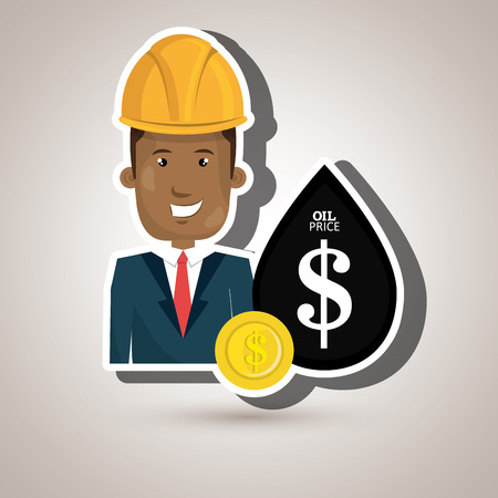 man and industry isolated icon design, vector illustration graphic Illustration