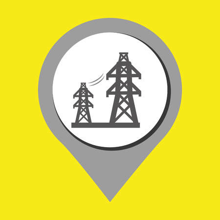 high voltage symbol: tower of energy isolated icon design, vector illustration  graphic