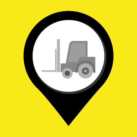 lift truck: carretilla elevadora aislada icono del dise�o, ejemplo gr�fico del vector