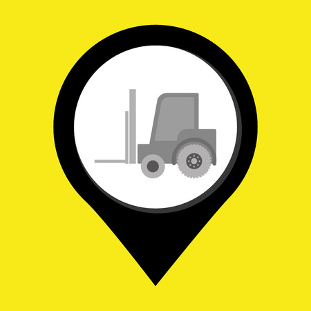 lift truck: lift truck isolated icon design, vector illustration  graphic Illustration