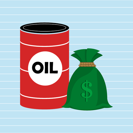 Oil and money isolated icon design, vector illustration  graphic Illustration