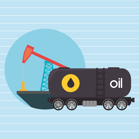 unleaded: Oil truck isolated icon design, vector illustration  graphic Illustration