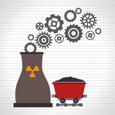 reactor: nuclear reactor and mining isolated icon design, vector illustration  graphic Illustration