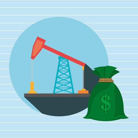 forage pétrolier argent icône isolé design, vecteur illustration graphique