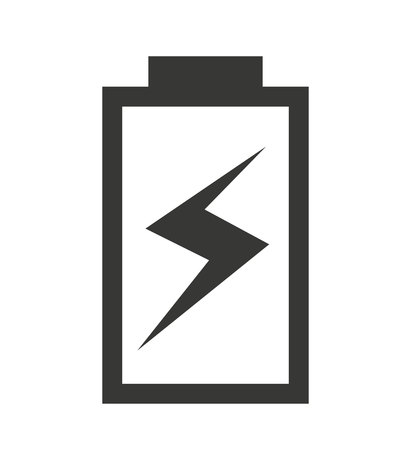 status icon: charging Battery status isolated icon design, vector illustration  graphic