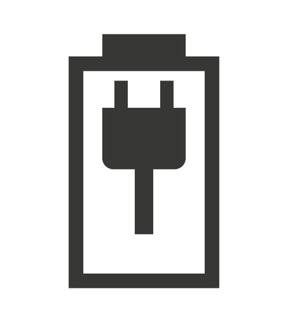 status: charging Battery status isolated icon design, vector illustration  graphic