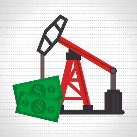 unleaded: oil and bills isolated icon design, vector illustration  graphic