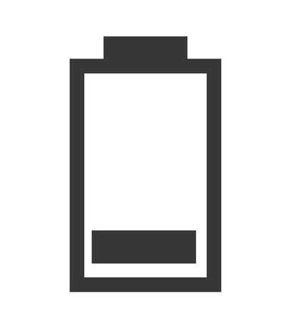 status icon: low  Battery status isolated icon design, vector illustration  graphic Illustration