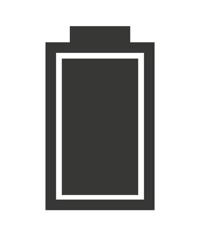 status: full  Battery status isolated icon design, vector illustration  graphic Illustration