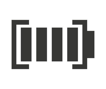 status: full Battery status isolated icon design, vector illustration  graphic