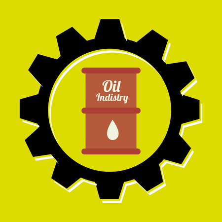excavation: signal of barrel oil isolated icon design, vector illustration  graphic Illustration