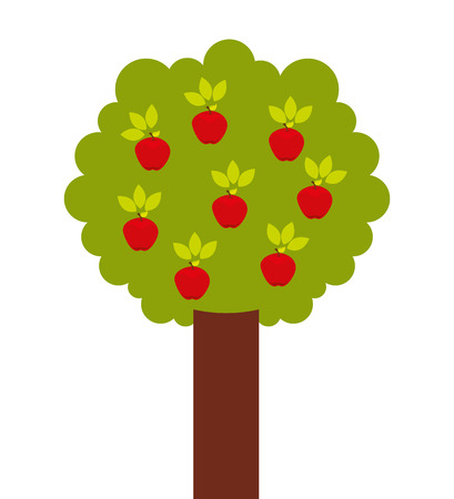 apple tree isolated: apple tree isolated icon design, vector illustration  graphic