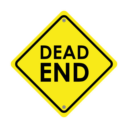 dead end: traffic signal isolated icon design, vector illustration  graphic