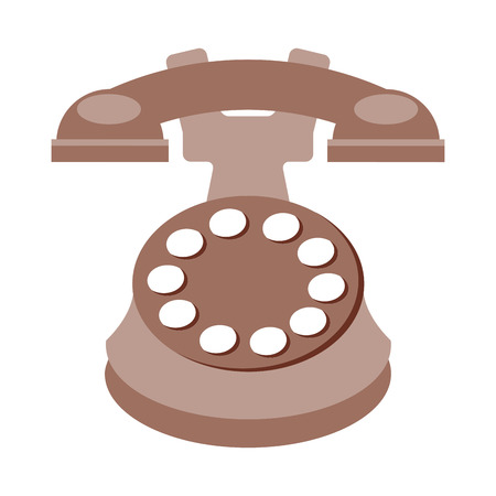 old telephone: old telephone isolated icon design, vector illustration  graphic