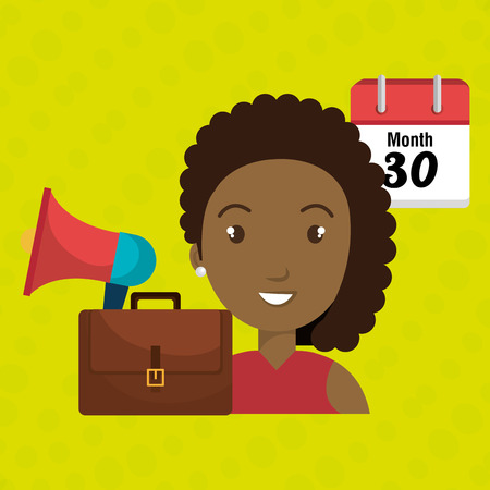 conventions: woman with speaker isolated icon design, vector illustration  graphic