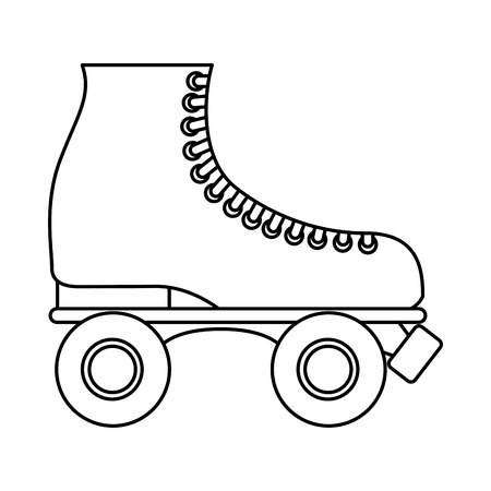 adult 80s: retro skate isolated icon design, vector illustration  graphic