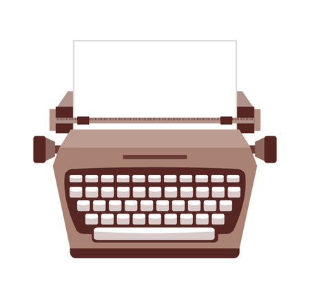 type writer: typewriter  isolated icon design, vector illustration  graphic