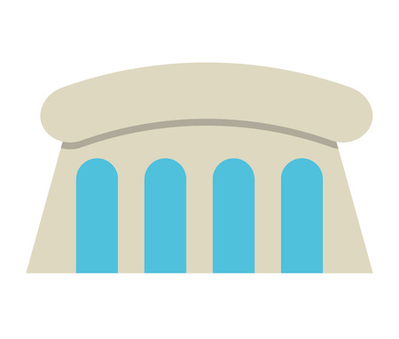 hydro electric: water dam isolated icon design, vector illustration  graphic Illustration