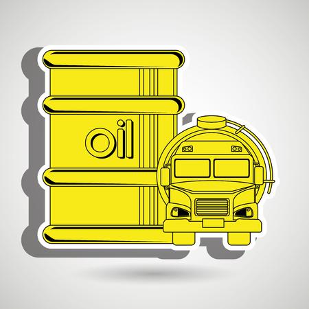 Gasoline truck isolated icon design, vector illustration  graphic