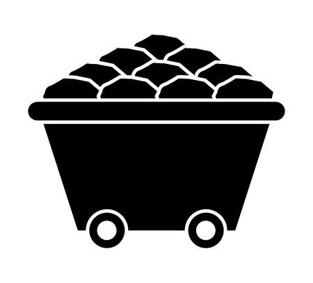 panier minière icône isolé conception, vecteur illustration graphique
