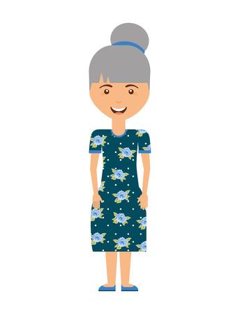 abuela aislado avatar icono del diseño, ejemplo gráfico del vector