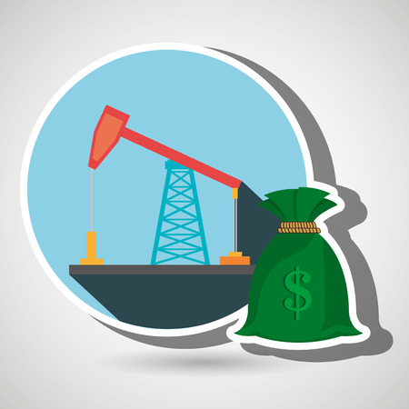 drilling: oil drilling money isolated icon design, vector illustration  graphic