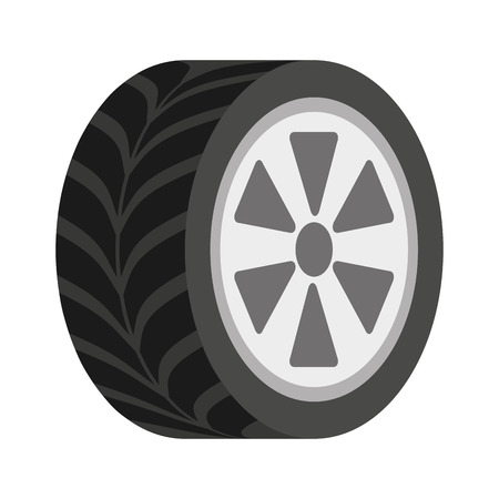 ring road: wheel car isolated icon design, vector illustration  graphic
