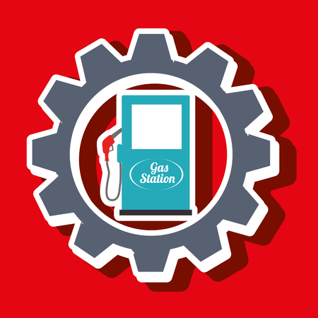 catalyst: signal of gasoline isolated icon design, vector illustration  graphic