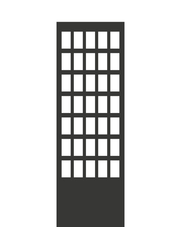 building front isolated icon design, vector illustration  graphic