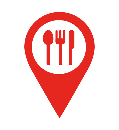restaurant location pin  isolated icon design, vector illustration  graphic