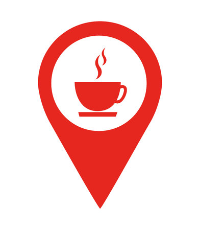 coffee shop location pin  isolated icon design, vector illustration  graphic