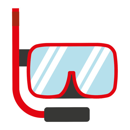 snorkel: snorkel gear isolated icon design, vector illustration  graphic