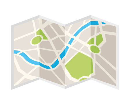 generic location: paper map isolated icon design, vector illustration  graphic