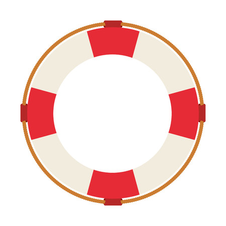 rescue circle: lifeguard float isolated icon design, vector illustration  graphic