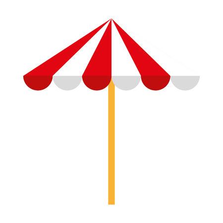 beach umbrella isolated icon design, vector illustration  graphic
