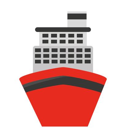 hull: cruise ship isolated icon design, vector illustration  graphic Illustration