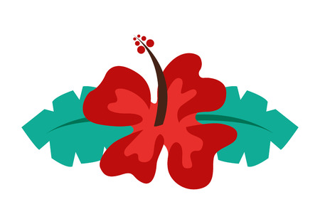 pistil: hibiscus flower isolated icon design, vector illustration  graphic
