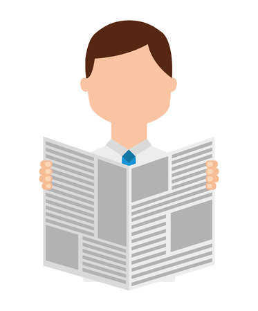 reader: newspaper reader isolated icon design, vector illustration  graphic Illustration