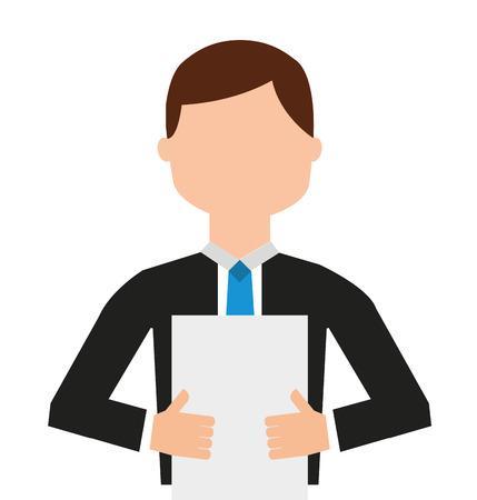 news reader  visolated icon design, vector illustration  graphic