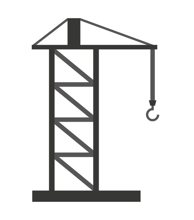 crane tower: crane tower  isolated icon design, vector illustration  graphic