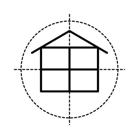 floorplan: floor plan  isolated icon design, vector illustration  graphic
