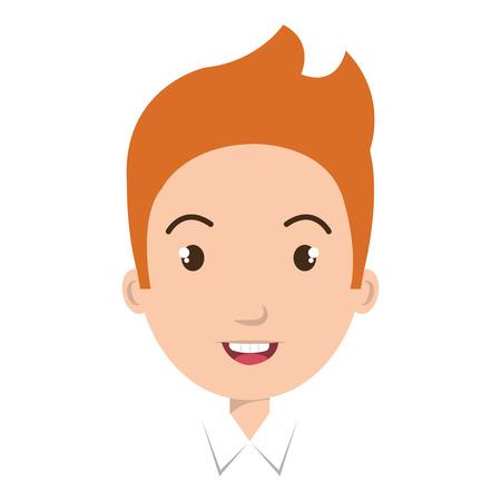 juniors: Young boy colorful cartoon design, vector illustration graphic. Illustration
